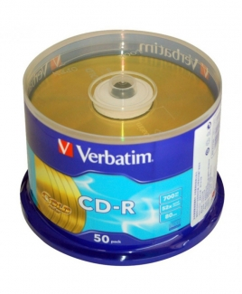 Verbatim CD-R Gold (700MB) 52x (50pcs in Spindle) [Cake Box]